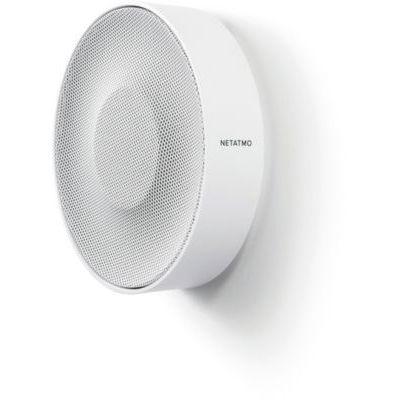image Netatmo NIS01-FR Sirène Intérieure Intelligente, sans Fil, Wi-FI, 110DB, Activation/désactivation Automatique, sans abonnement, sur Piles ou sur Secteur avec Un câble