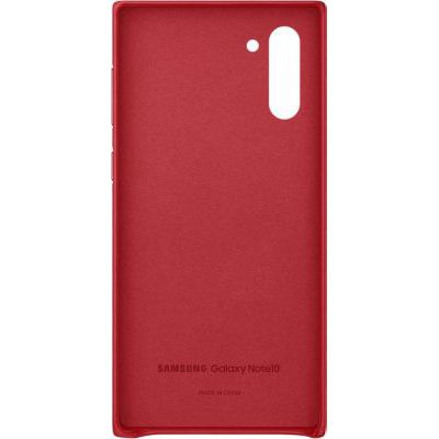 image Coque Cuir Rouge Galaxy Note 10