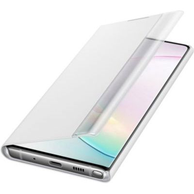 image SAMSUNG Clear View Cover Blanc Galaxy Note 10