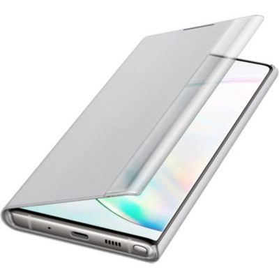 image SAMSUNG Clear View Cover Silver Galaxy Note 10