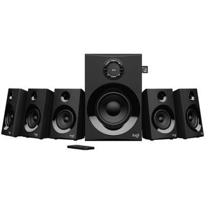image Logitech Z607 Haut-Parleurs Son Surround 5.1 (Bluetooth, RCA, Pic 160 W, Télécommande, Compatible les Ordinateurs/PC/Télévisions/Smartphones/Tablettes), Noir