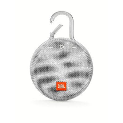 image JBL Clip 3 – Enceinte Bluetooth Portable avec Mousqueton – Étanchéité IPX7 – Autonomie 10hrs – Qualité Audio JBL – Bluetooth, Blanc