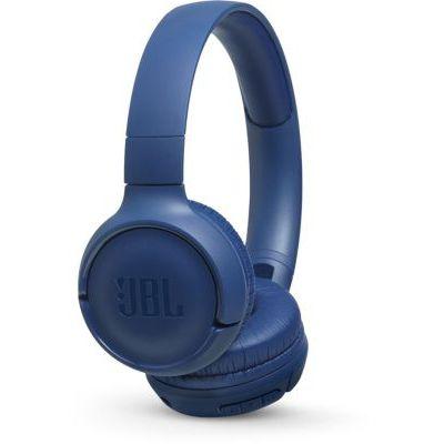 image produit JBL Tune500 - Casque supra-auriculaire avec fil - Léger et pliable - Écouteurs confortables - Avec commande mains libres - Microphone intégré - Bleu - livrable en France
