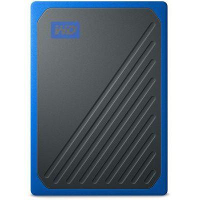 image WD - My Passport Go 500GB - Disque SSD Portable - Finition Cobalt