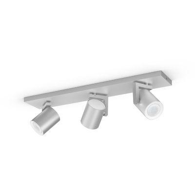 image Philips Hue White & Color Ambiance Spot Argenta x3 Aluminium Compatible Bluetooth, Fonctionne avec Alexa