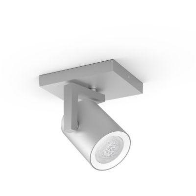 image Philips Hue White & Color Ambiance Spot Argenta Aluminium Compatible Bluetooth, Fonctionne avec Alexa