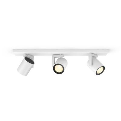 image Philips Hue White & Color Ambiance Spot Argenta x3 Blanc Compatible Bluetooth, Fonctionne avec Alexa