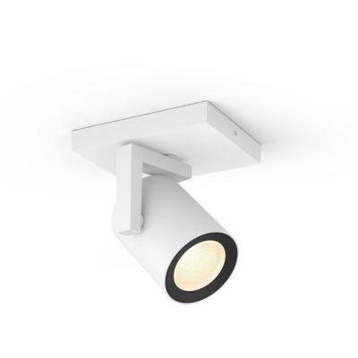 image Philips Hue White & Color Ambiance Spot Argenta Blanc Compatible Bluetooth, Fonctionne avec Alexa