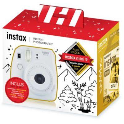 image Fujifilm Instax Pack Cadeau Calendrier Photos 2020 à colorier livré avec: 1 Instax Mini 9 Blanc cendré + 1 Pack Film Mini 10 Vues + 1 Calendrier à colorier 2020 + 1 Pochette 4 feutres Couleurs
