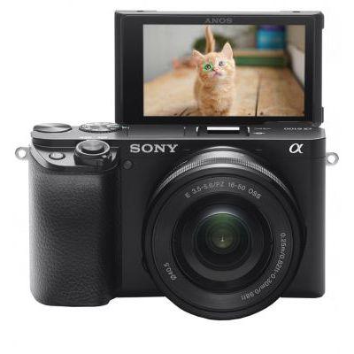 image Sony Alpha ILCE-6100LB Appareil photo hybride APS-C, Kit boîtier + optique E 16-50mm, Noir