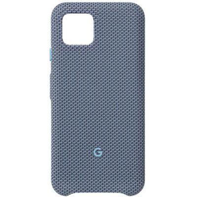 image Google Coque Pixel Pixe - Coque Protection pour Telephone avec Tissu A Mesure et Compatible avec Active Edge - Blue-Ish, Pixel 4