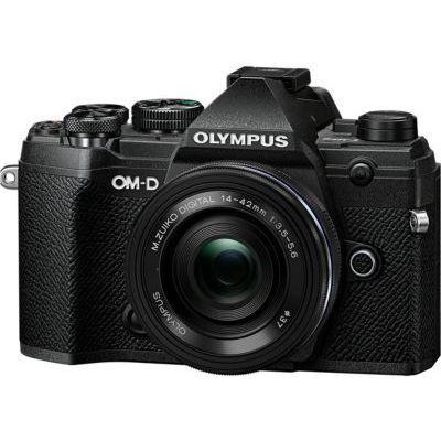 image Olympus OM-D E-M5 Mark III Kit, Appareil Photo Micro 4/3 (20 MP, Stabilisateur d'Image 5 Axes, AF puissant, Vidéo 4K, WLAN), Noir + Objectif M.Zuiko 14-42mm