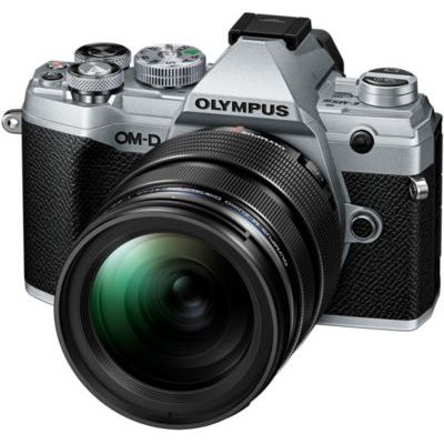 image Olympus OM-D E-M5 Mark III Kit, Appareil Photo Micro 4/3, (20 MP, Stabilisateur d'Image 5 Axes, AF puissant, Vidéo 4K, WLAN), Silver + Objectif 12-40mm M.Zuiko PRO