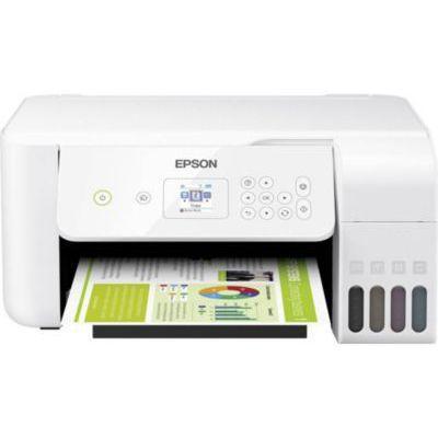 image Epson EcoTank Imprimante Jet d'Encre 3-en-1 Gamme pour particuliers ET-2720/26 Drucker Blanc.