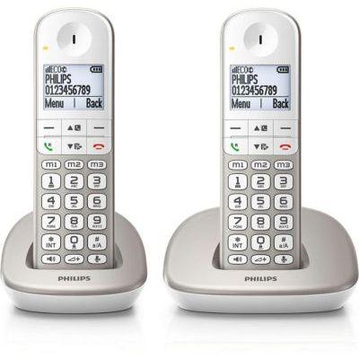 image PHILIPS DECT Téléphone XL Duo sans Répondeur XL4902S/34 Argent