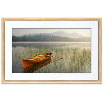 image Meural de Netgear MC321LW, panneau numérique HD de 21,5 pouces affichant des images et des photographies de manière réaliste, cadre en bois clair 16x24
