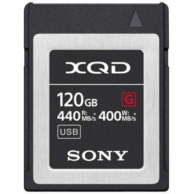 image Sony QDG120F Carte mémoire Flash XQD 120 Go (128 Go préformat) 5 x Hard XQD - Haute Vitesse de Lecture 440 Mo/s et écriture 400 Mo/s