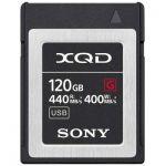 image produit Sony QDG120F Carte mémoire Flash XQD 120 Go (128 Go préformat) 5 x Hard XQD - Haute Vitesse de Lecture 440 Mo/s et écriture 400 Mo/s - livrable en France