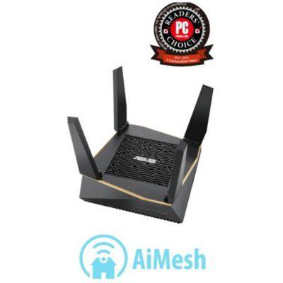 image ASUS RT-AX92U Système WiFi 6 Ai Mesh AX6100 Tri-Bande Gigabit (OFDMA, Triple VLAN, Mode Router/Point d'accès, AiProtection Pro, Support AI Mesh WiFi)
