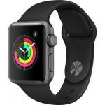 image produit Montre connectée Apple Watch Series 3 - 38 mm, Noire (Via remise panier - Reconditionné - Comme Neuf)