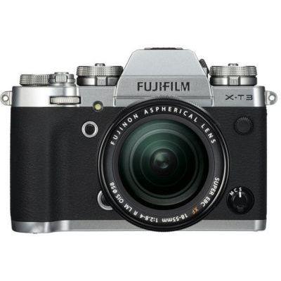 image Fujifilm Appareil Photo Compact Hybride X-T3 avec Objectif XF1855 mm 26,1 Mpix Argent/Noir & Sac à Dos pour Appareil Photo Reflex numérique et Ordinateur Portable intérieur Orange