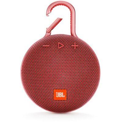 image JBL K951508 Clip 3 – Enceinte Bluetooth Portable avec Mousqueton – Étanchéité IPX7 – Autonomie 10hrs – Qualité Audio JBL – Bluetooth, Rouge