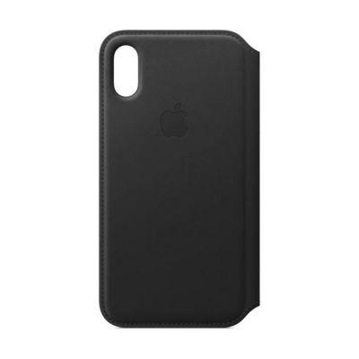 image Apple Étui folio en cuir coque pour iPhoneXS - Noir