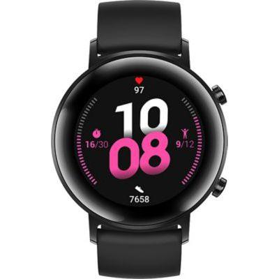image HUAWEI Watch GT 2(42mm) Montre connectée, Autonomie d'une semaine, GPS intégré, 15 Modes de Sport, Suivi du rythme cardiaque en temps réel, Tracker d'activité quotidien, Noir