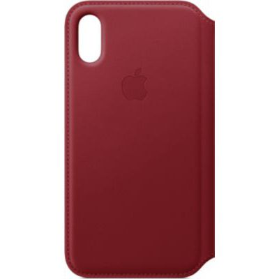 image Apple Étui folio en cuir (pour iPhoneXS)- (PRODUCT)RED