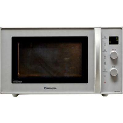image Panasonic Four Micro-ondes combiné NN-CD575MEPG, 27 L, Inverter, Gril à Quartz 1200 W, Micro-Ondes 1000 W, chaleur tournante, 11 Programmes Auto, Plateau tournant 34 cm, Plat Crispy, Gris