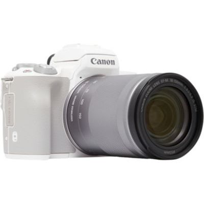 image Canon EOS M50 Appareil Photo Hybride + EF-M 18-150 mm F/3.5-6.3STM - Blanc
