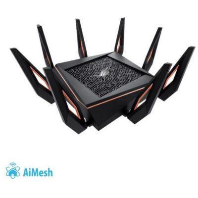 image ASUS GT-AX11000 Rapture Routeur Gaming Wi-Fi 6 Ai Mesh /AX 11000 Mbps Triple Bande OFDMA et MU-MIMO avec Sécurité AiProtection Pro à vie par TrendMicro