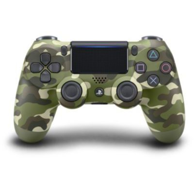 image Sony Manette PlayStation 4 officielle, DUALSHOCK 4, Sans fil, Batterie rechargeable, Bluetooth, Green Camo (Vert Camouflage)