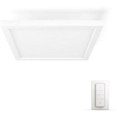 image Philips Hue White Ambiance AURELLE Panneau LED 30X30 cm 28 W- Blanc (télécommande incluse)