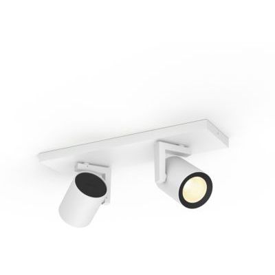 image Philips Hue White & Color Ambiance Spot Argenta x2 Blanc compatible Bluetooth, Fonctionne avec Alexa