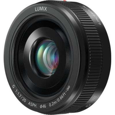 image Panasonic Lumix 20mm F1.7 | Objectif à focale fixe H-H020AE-K (Grand angle 20mm, Très Grande ouverture F1.7, Pancake, equiv. 35mm : 40mm) Noir – Compatible monture Micro 4/3 Panasonic & Olympus