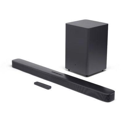 image JBL 2.1 – Barre de son avec caisson de basses sans fil – Connection 4K par arc HDMI ou câble optique – Bluetooth 4.2 – Couleur : Noir