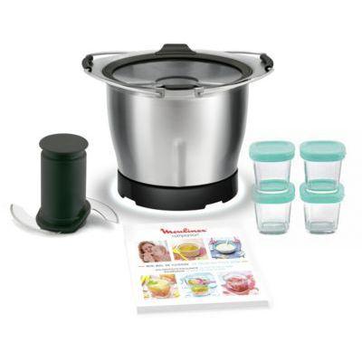 image Moulinex Mini Bol + 4 Pots en verre Bébé pour gamme Companion XF387E10