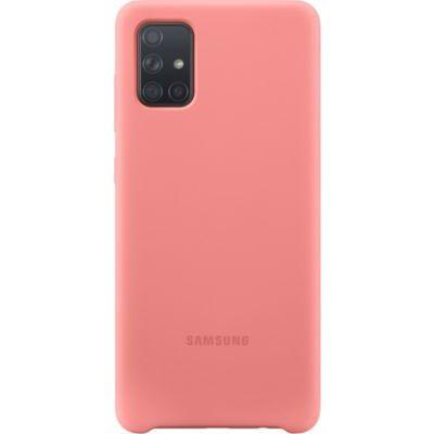 image Samsung Coque en Silicone pour Galaxy A71 Rose