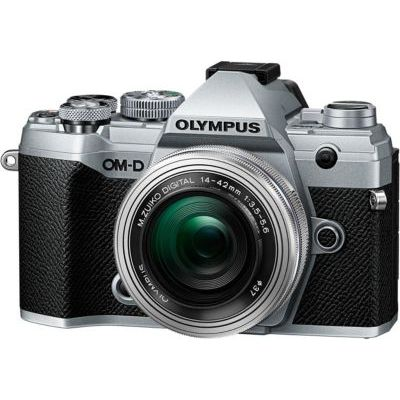 image Olympus OM-D E-M5 Mark III Kit, Appareil Photo Micro 4/3 (20 MP, Stabilisateur d'Image 5 Axes, AF puissant, Vidéo 4K, WLAN), Silver + Objectif M.Zuiko 14-42 mm