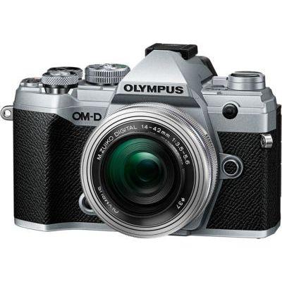 image Olympus OM-D E-M5 Mark III Kit, Appareil Photo Micro 4/3 (20 MP, Stabilisateur d'Image 5 Axes, AF puissant, Vidéo 4K, WLAN), Silver + Objectif M.Zuiko 14-42 mm
