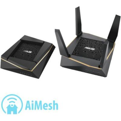 image Asus Router RT-AX92U(2pk) Wi-FI 6 AX6100 Tri-Band Mesh WiFi System, SSID Setting, AiProtection Pro, Network Security Powered by Trend Micro