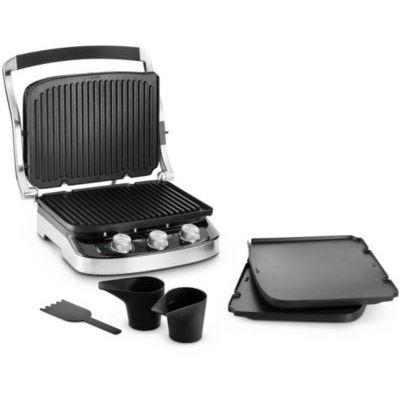 image DeLonghi 0179415012Contact Grill, acier/noir, 41.7x 36.6x 30.7cm 39 x 36,5 x 25 cm Acciao/Nero