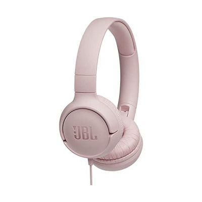 image JBL Tune500 Casque Supra-Auriculaire avec Fil - Léger et Pliable - Écouteurs Confortables - Avec Commande Mains Libres - Microphone Intégré, Wired, Rose