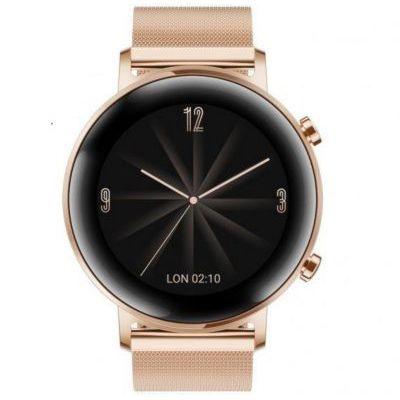 image HUAWEI Watch GT 2(42mm) Montre connectée, Autonomie d'une semaine, GPS intégré, 15 Modes de Sport, Suivi du rythme cardiaque en temps réel, Tracker d'activité quotidien, Elite Gold