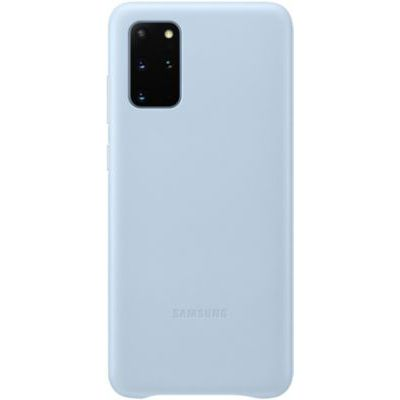 image Samsung Leather Cover Galaxy S20+ - Cuir bleu