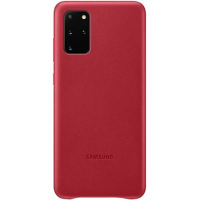 image Samsung Leather Cover Galaxy S20+ - Cuir rouge bordeaux