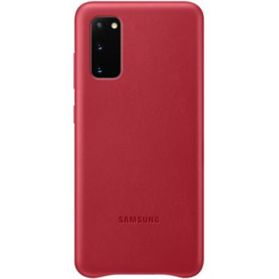 image Samsung Leather Cover Galaxy S20 - Cuir rouge Bordeaux