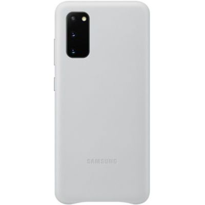 image Samsung Leather Cover Galaxy S20 - Cuir gris clair