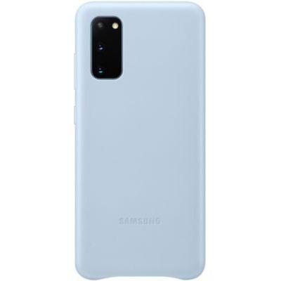 image Samsung EF-VG980 Housse en cuir pour Galaxy S20|S20 5G, Bleu Ciel